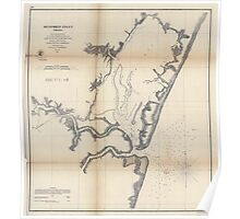 Civil War Maps 1120 Metomkin Inlet Virginia Poster