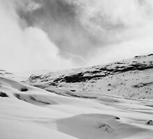 Glacier Hiking in Iceland - Black and White by jccorc