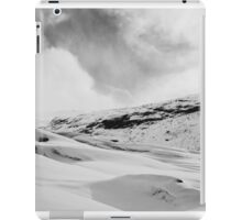 Glacier Hiking in Iceland - Black and White iPad Case/Skin