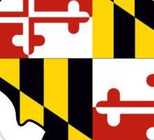 Maryland flag Illinois outline Sticker