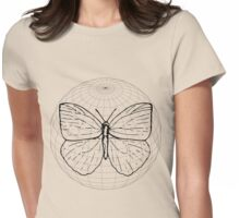 Butterfly in a sphere digital art Womens Fitted T-Shirt