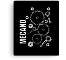 Mecano Geer Wheels Pinion Graphic Engineering sweatshirt Canvas Print