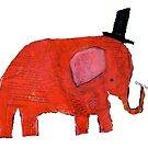 Red Elephant by greg orfanos