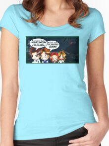 X Castle Files (background) Women's Fitted Scoop T-Shirt