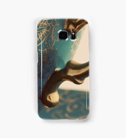 Blue and Gold Tea Cup Samsung Galaxy Case/Skin