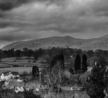 Clouds over Hawkshead Sticker