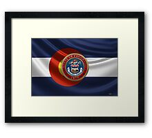 Colorado Great Seal over State Flag Framed Print