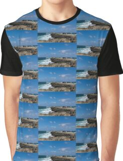 Fishing from the Lava Rocks, Hawaiian Style Graphic T-Shirt