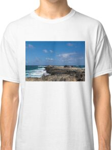 Fishing from the Lava Rocks, Hawaiian Style Classic T-Shirt