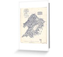 Civil War Maps 0104 Battle field of Chickamauga Georgia Greeting Card