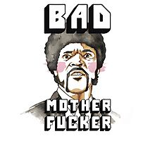 Pulp fiction - Jules Winnfield - Bad mother fucker Photographic Print