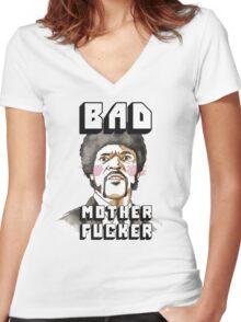 Pulp fiction - Jules Winnfield - Bad mother fucker Women's Fitted V-Neck T-Shirt
