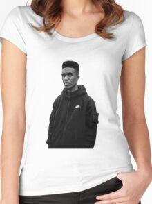 Novelist Grime Artist Black White Women's Fitted Scoop T-Shirt