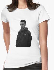 Novelist Grime Artist Black White Womens Fitted T-Shirt