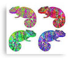Psychedelic chameleons Canvas Print