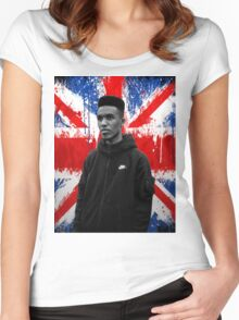 Novelist Grime Artist British Flag Women's Fitted Scoop T-Shirt