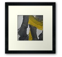 Yellow And Black Abstract 2 Framed Print