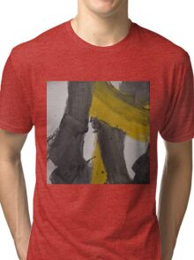 Yellow And Black Abstract 2 Tri-blend T-Shirt