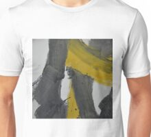 Yellow And Black Abstract 2 Unisex T-Shirt