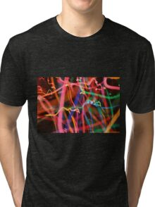 Psychedelic Glow Worm Tri-blend T-Shirt
