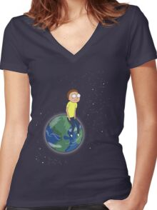 Rick and Morty - Wish Upon a Star Women's Fitted V-Neck T-Shirt