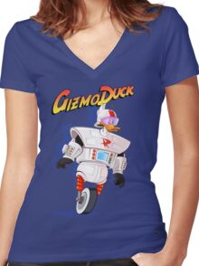 Gizmo Duck Women's Fitted V-Neck T-Shirt