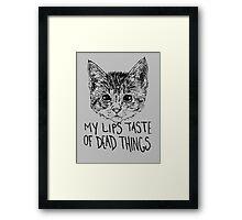 Morbid Kitten Framed Print