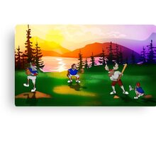 Baseball Sunset Canvas Print