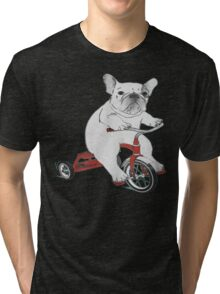 BYCICLE DOG PET ANIMAL PITBULL  Tri-blend T-Shirt