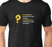 Knowledge vs Intelligence Unisex T-Shirt