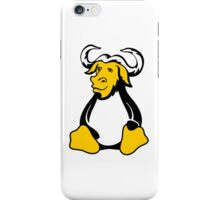 Gnu/Linux fusion logo iPhone Case/Skin