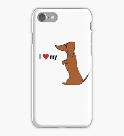 I love my dachshund iPhone Case/Skin