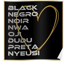BLACK in Every Language 2.0 Poster