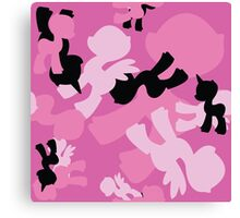 Brony Military Pink Camo Canvas Print