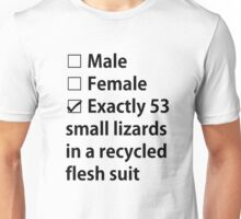 No Gender, Only Lizards Unisex T-Shirt
