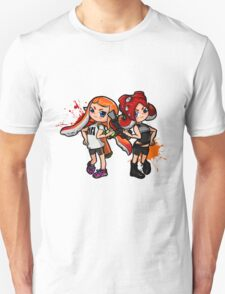 Inking Girl vs Octoling Girl Splat Unisex T-Shirt