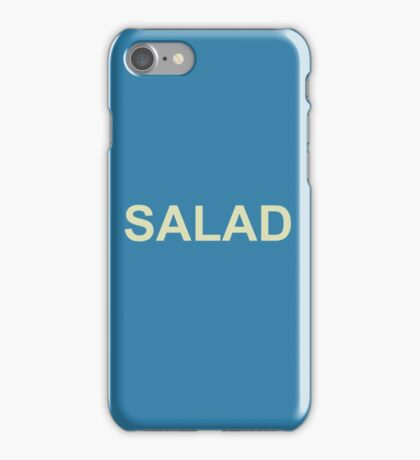 Christian Leave Salad Print (Blue) iPhone Case/Skin