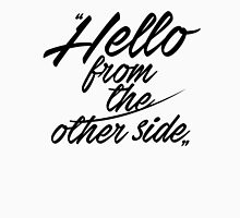 Hello from the other side - version 3 - black Womens Fitted T-Shirt