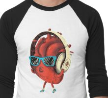 Cool Heart Design Men's Baseball ¾ T-Shirt