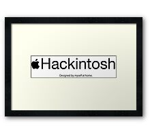 Hackintosh - Black Framed Print