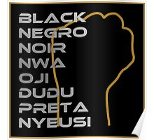 BLACK in Every Language 3.0 Poster