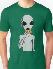Alien eat pizza Unisex T-Shirt