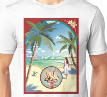 Art Deco Flying Boat - Aitutaki, Cook Islands Unisex T-Shirt