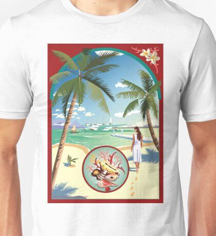 Art Deco Flying Boat - Aitutaki, Cook Islands Unisex T-Shirt