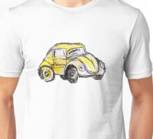 Yellow VW Bug Watercolor Sketch Unisex T-Shirt