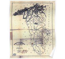 Civil War Maps 0472 Greenville District South Carolina Poster