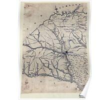 Civil War Maps 2161 Orangeburgh District South Carolina Poster
