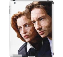 Low Poly X-Files Mulder and Scully iPad Case/Skin