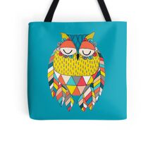 Aztec Owl Illustration Tote Bag