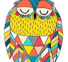 Aztec Owl Illustration by Pip Gerard